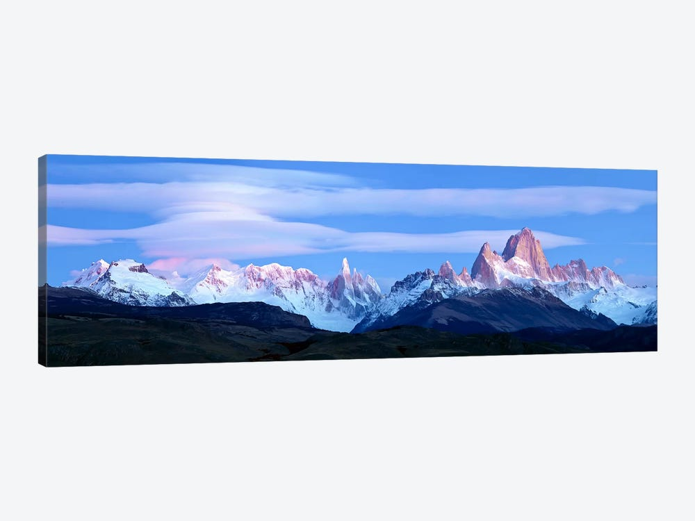 Cloudy Mountain Landscape, Fitz Roy-Torre Group, Andes, Southern Patagonian Ice Field by Panoramic Images 1-piece Canvas Art