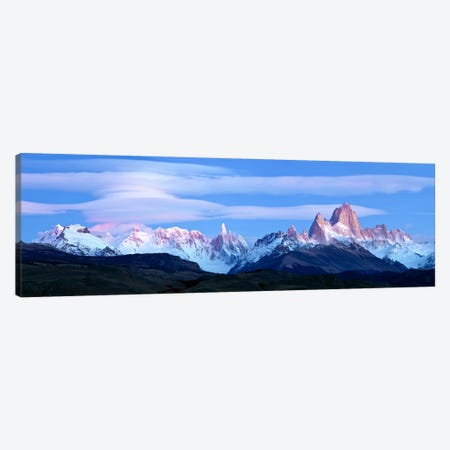 Cloudy Mountain Landscape, Fitz Roy-Torre Group, Andes, Southern Patagonian Ice Field 3-Piece Canvas #PIM10335} by Panoramic Images Canvas Print