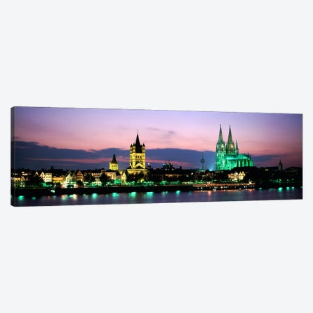Great St. Martin & Cologne Cathedral At Dusk, Cologne, Germany Canvas Print #PIM1033} by Panoramic Images Canvas Art