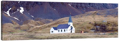 Old whalers church, Grytviken, South Georgia Island Canvas Art Print