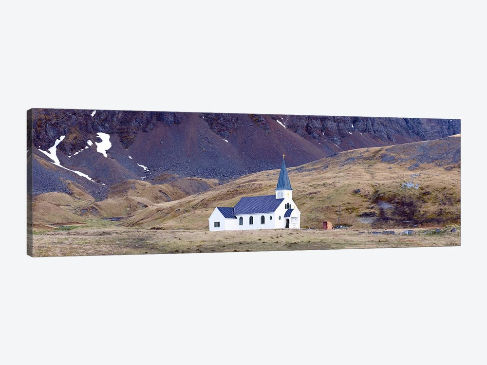 Old whalers church, Grytviken, South Georgia Island 1-piece Canvas Wall Art