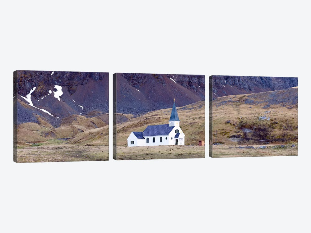 Old whalers church, Grytviken, South Georgia Island 3-piece Canvas Artwork