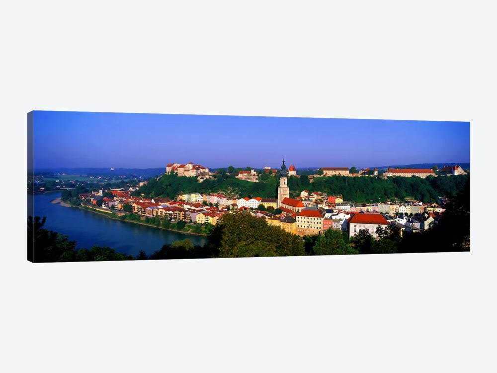 Skyline Salzach River Burghausen Bavaria Germany by Panoramic Images 1-piece Art Print