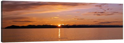 Ocean at sunset, Inside Passage, Alaska, USA Canvas Art Print