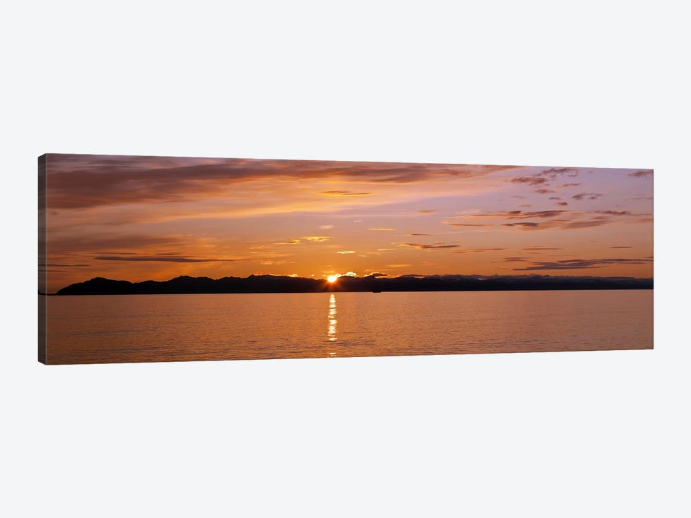 Ocean at sunset, Inside Passage, Alaska, USA by Panoramic Images 1-piece Canvas Artwork