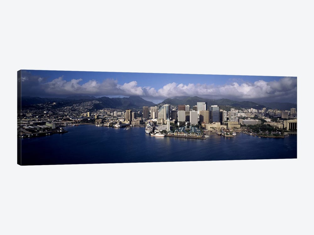 Buildings at the waterfront, Honolulu, Hawaii, USA by Panoramic Images 1-piece Canvas Artwork