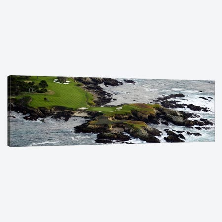 Golf course on an islandPebble Beach Golf Links, Pebble Beach, Monterey County, California, USA Canvas Print #PIM10368} by Panoramic Images Canvas Print