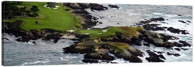 Golf course on an islandPebble Beach Golf Links, Pebble Beach, Monterey County, California, USA Canvas Art Print