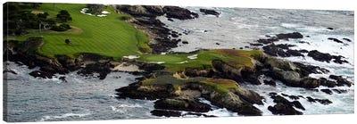 Golf course on an islandPebble Beach Golf Links, Pebble Beach, Monterey County, California, USA Canvas Art Print