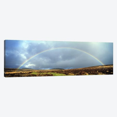 Rainbow above Fernworthy Forest, Dartmoor, Devon, England Canvas Print #PIM10372} by Panoramic Images Canvas Artwork