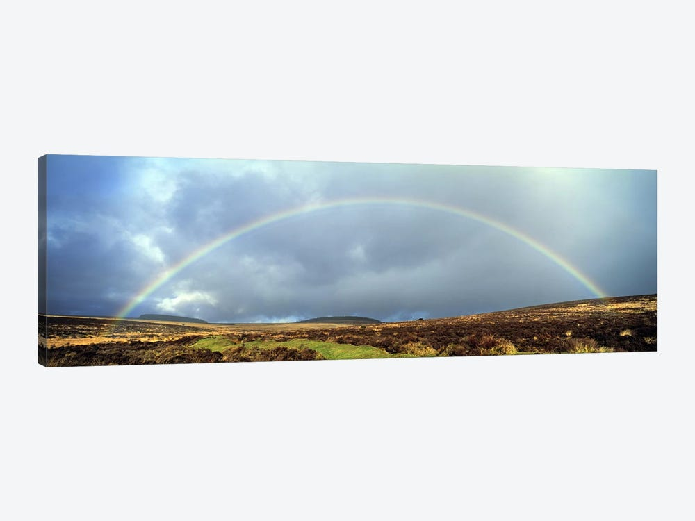 Rainbow above Fernworthy Forest, Dartmoor, Devon, England 1-piece Art Print