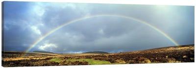 Rainbow above Fernworthy Forest, Dartmoor, Devon, England Canvas Art Print