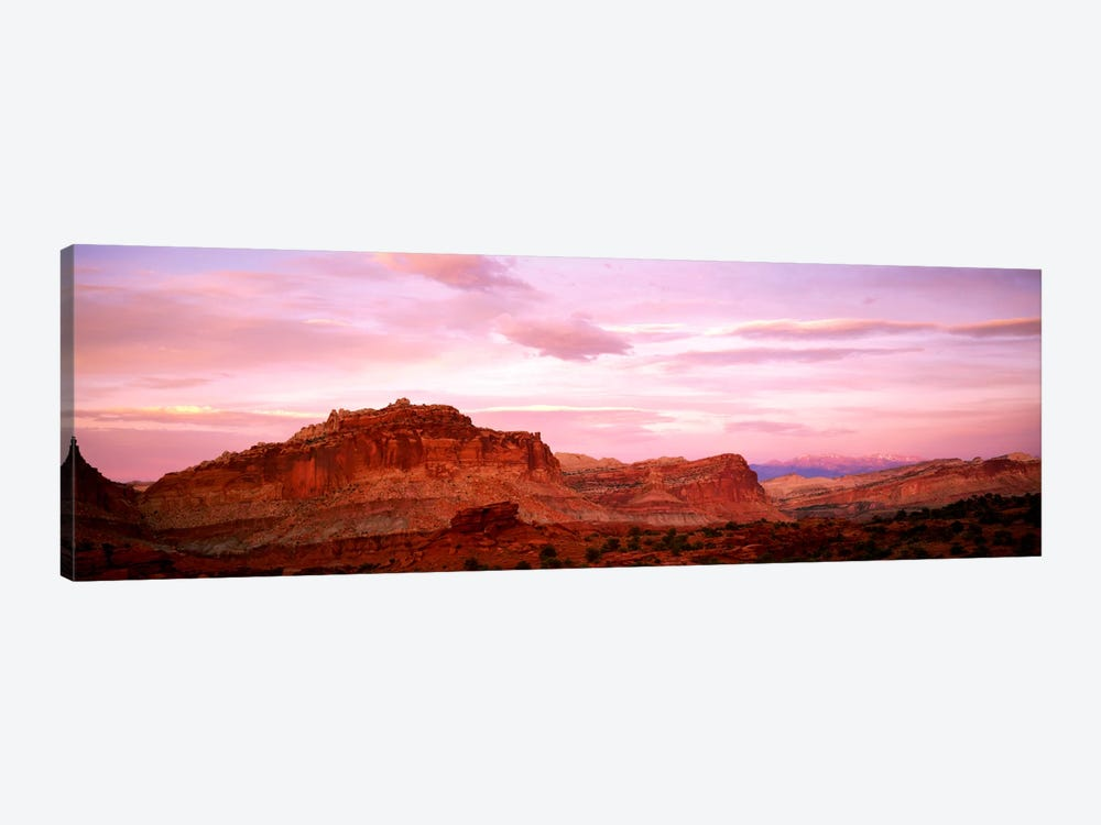 Dusk Panorama Point Capital Reef National Park UT 1-piece Canvas Art