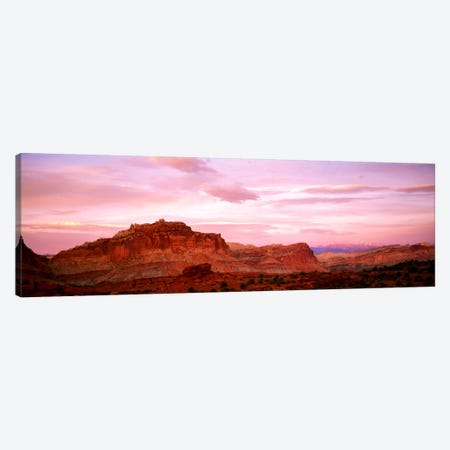 Dusk Panorama Point Capital Reef National Park UT Canvas Print #PIM1037} by Panoramic Images Canvas Art Print