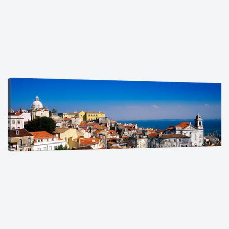 Coastal Cityscape, Alfama District, Lisbon, Portugal Canvas Print #PIM1038} by Panoramic Images Canvas Artwork