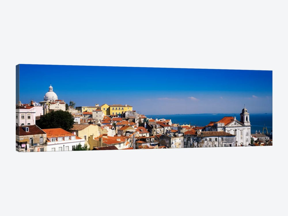 Coastal Cityscape, Alfama District, Lisbon, Portugal by Panoramic Images 1-piece Canvas Print