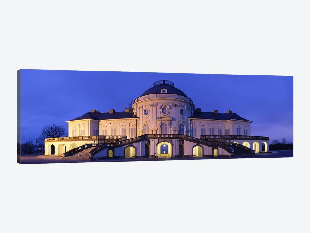Castle Solitude lit up at night, Stuttgart, Baden-Wurttemberg, Germany by Panoramic Images 1-piece Canvas Art