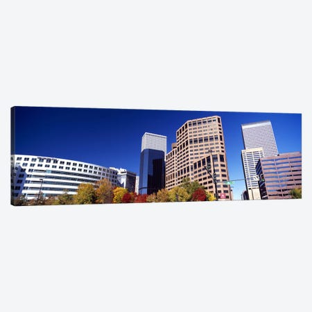 Low angle view of skyscrapers, Downtown Denver, Denver, Colorado, USA 2011 Canvas Print #PIM10404} by Panoramic Images Art Print