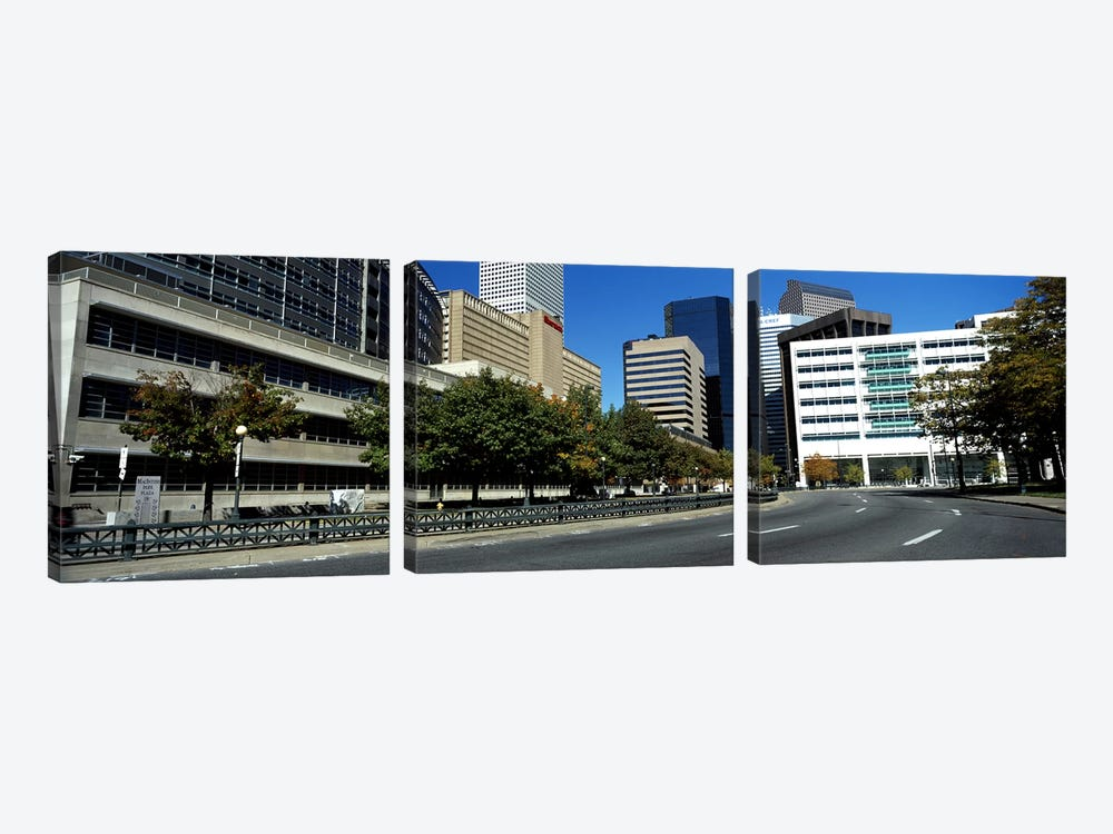 Buildings in a city, Downtown Denver, Denver, Colorado, USA by Panoramic Images 3-piece Canvas Art Print