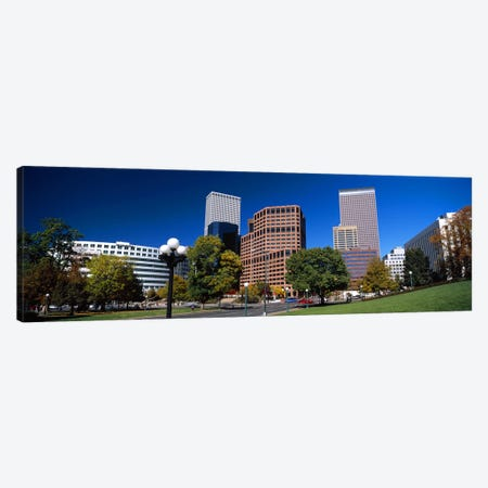 Buildings in a city, Downtown Denver, Denver, Colorado, USA 2011 Canvas Print #PIM10408} by Panoramic Images Canvas Artwork