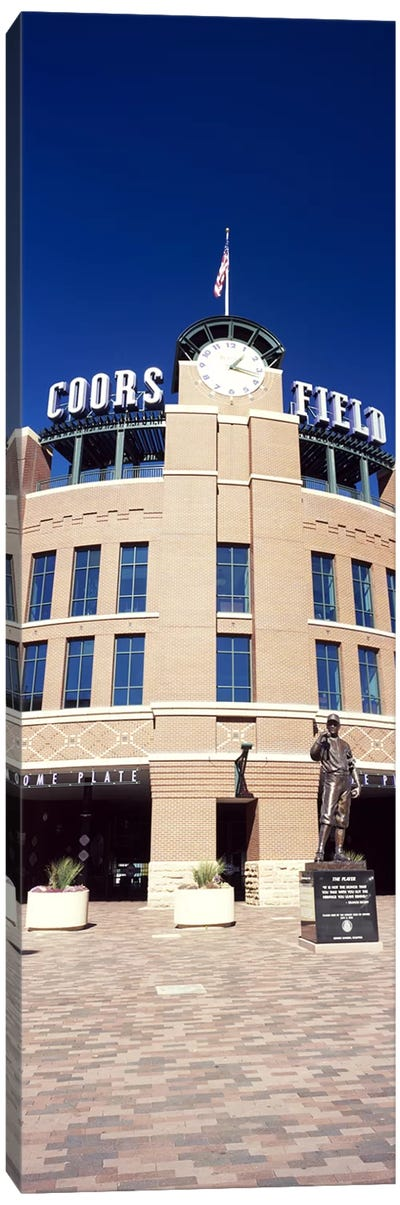 Facade of a baseball stadium, Coors Field, Denver, Denver County, Colorado, USA Canvas Art Print