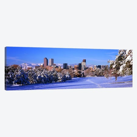Denver city in winter, Colorado, USA 2011 Canvas Print #PIM10410} by Panoramic Images Art Print