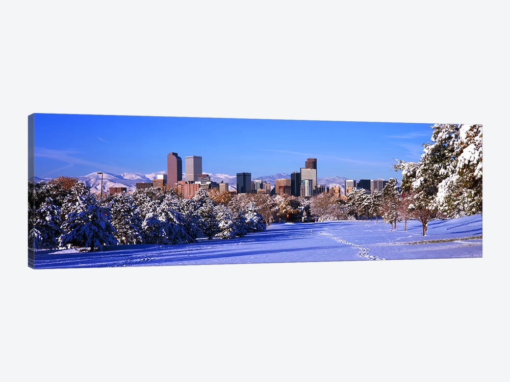 Denver city in winter, Colorado, USA 2011 by Panoramic Images 1-piece Canvas Art