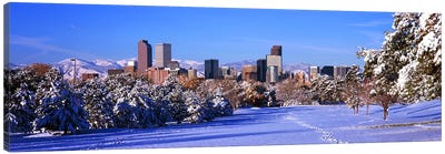 Denver city in winter, Colorado, USA 2011 Canvas Art Print