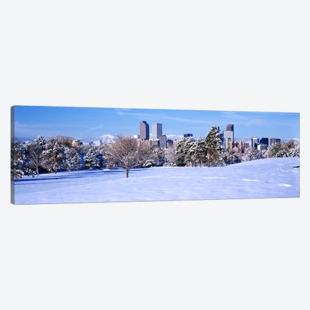 Denver city in winter, Colorado, USA 2011 #2 Canvas Print #PIM10411} by Panoramic Images Art Print