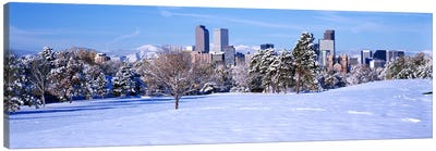 Denver city in winter, Colorado, USA 2011 #2 Canvas Art Print