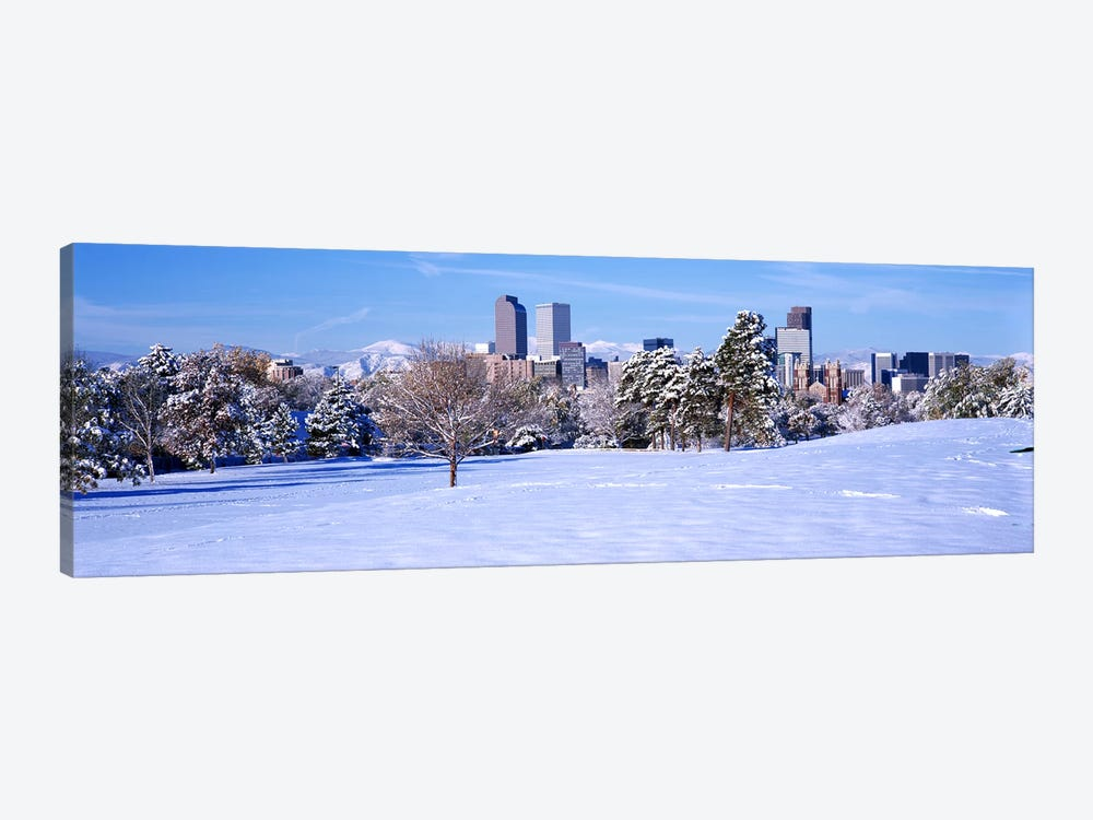 Denver city in winter, Colorado, USA 2011 #2 by Panoramic Images 1-piece Canvas Art Print