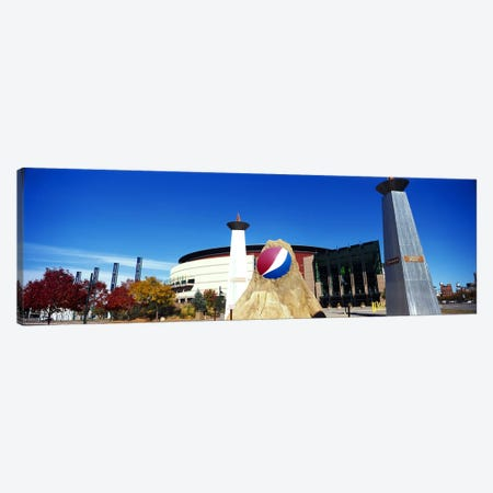 Building in a city, Pepsi Center, Denver, Denver County, Colorado, USA Canvas Print #PIM10412} by Panoramic Images Canvas Art Print