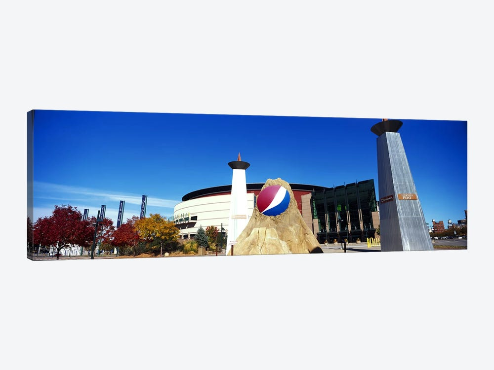 Building in a city, Pepsi Center, Denver, Denver County, Colorado, USA by Panoramic Images 1-piece Canvas Art