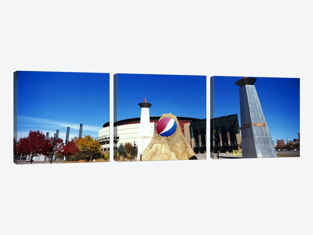 Building in a city, Pepsi Center, Denver, Denver County, Colorado, USA by Panoramic Images 3-piece Canvas Artwork