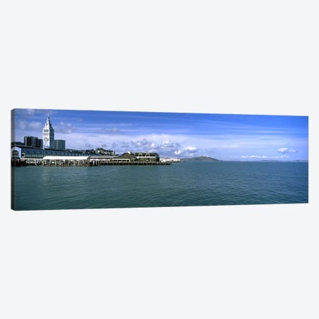 Buildings at the waterfront, San Francisco, California, USA Canvas Print #PIM10419} by Panoramic Images Canvas Art Print