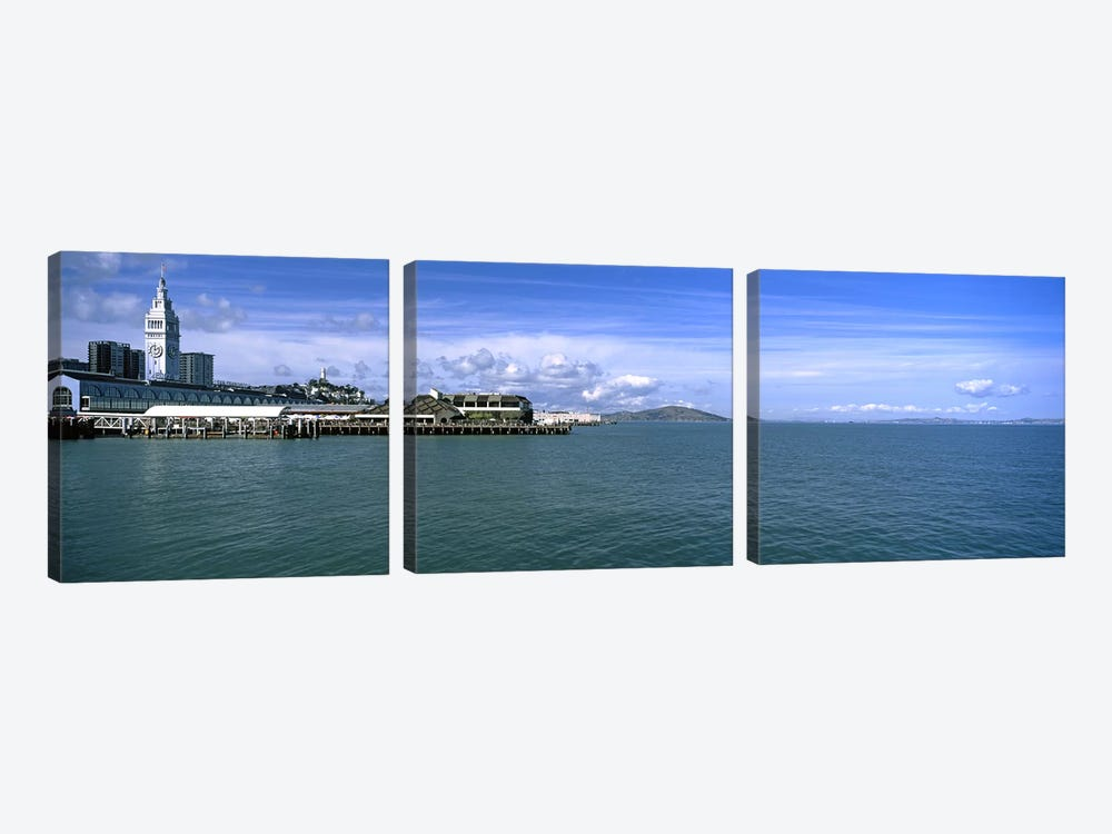 Buildings at the waterfront, San Francisco, California, USA by Panoramic Images 3-piece Canvas Art Print