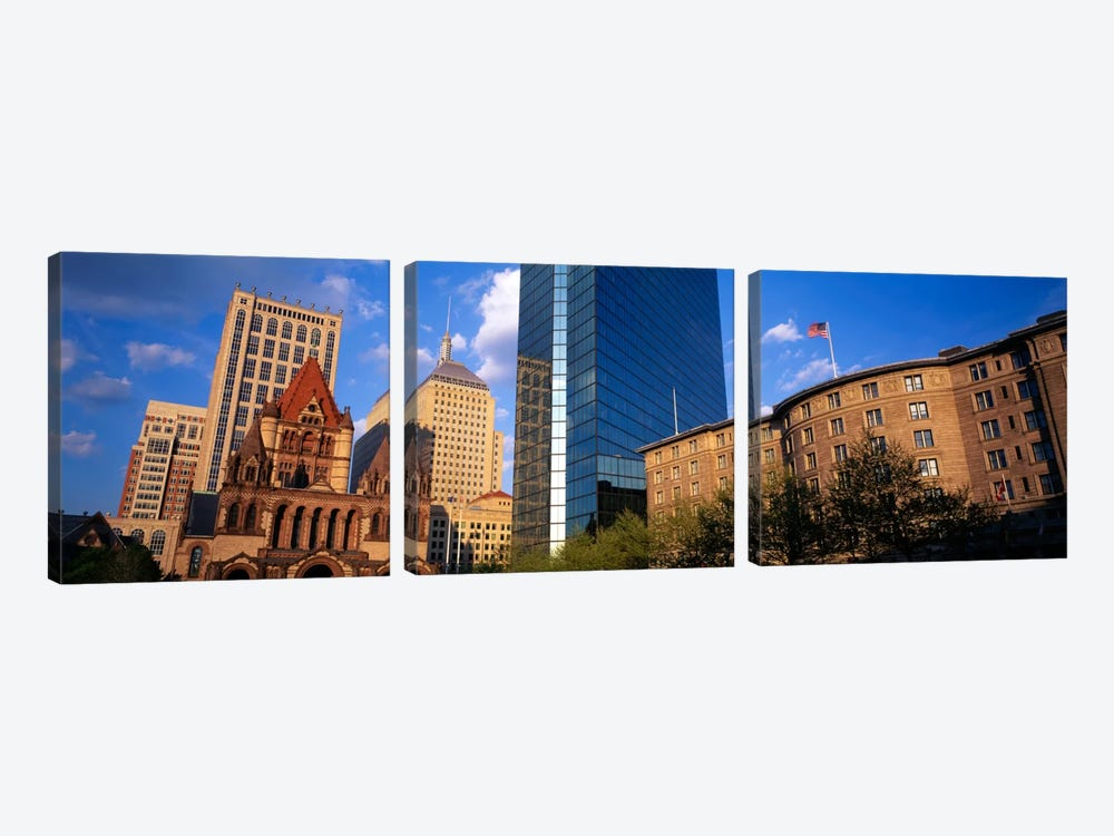 USA, Massachusetts, Boston, Copley Square by Panoramic Images 3-piece Art Print