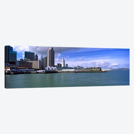 Buildings at the waterfront, San Francisco, California, USA Canvas Print #PIM10420} by Panoramic Images Canvas Artwork