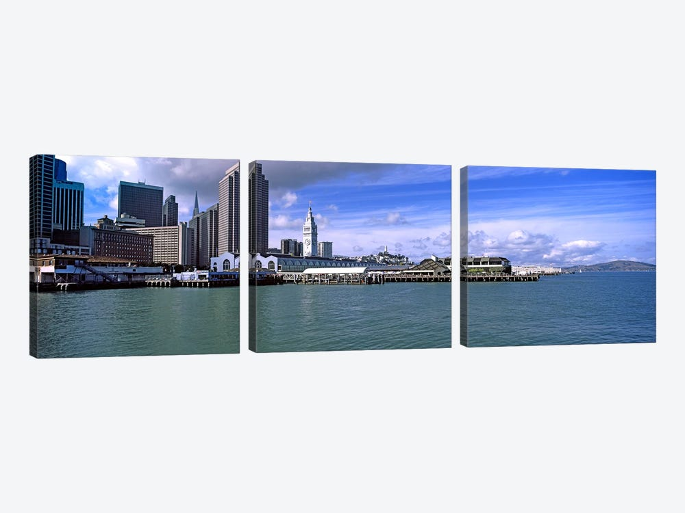 Buildings at the waterfront, San Francisco, California, USA by Panoramic Images 3-piece Canvas Print