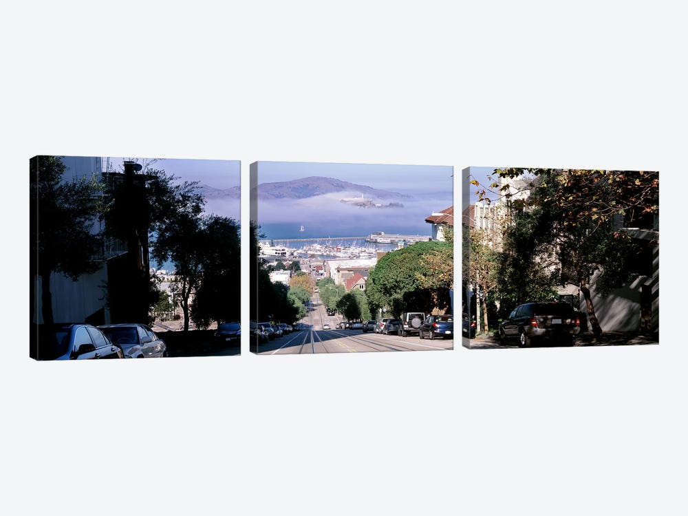 Street scene, San Francisco, California, USA by Panoramic Images 3-piece Canvas Artwork