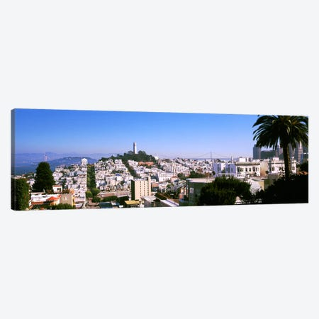 High angle view of buildings in a city, Russian Hill, San Francisco, California, USA Canvas Print #PIM10423} by Panoramic Images Canvas Art