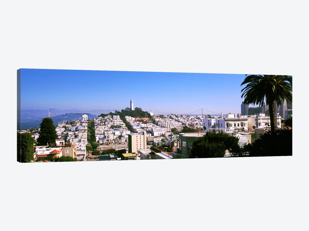 High angle view of buildings in a city, Russian Hill, San Francisco, California, USA by Panoramic Images 1-piece Canvas Art
