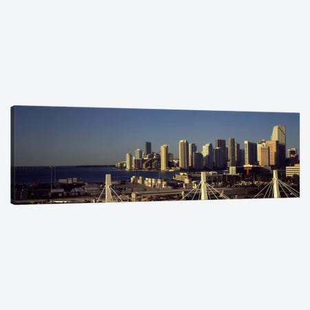 Buildings in a city, Miami, Florida, USA Canvas Print #PIM10433} by Panoramic Images Canvas Print