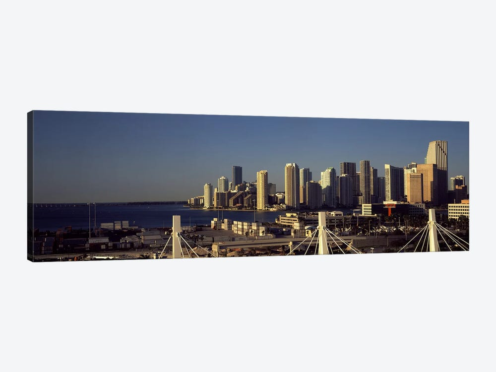 Buildings in a city, Miami, Florida, USA 1-piece Canvas Print