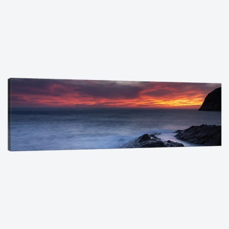 Coast at sunset, L'ile-Rousse, Haute-Corse, Corsica, France Canvas Print #PIM10435} by Panoramic Images Canvas Art