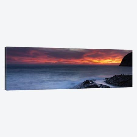 Coast at sunset, L'ile-Rousse, Haute-Corse, Corsica, France Canvas Print #PIM10435} by Panoramic Images Canvas Art