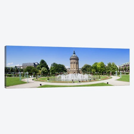 Water tower in a park, Wasserturm, Mannheim, Baden-Wurttemberg, Germany Canvas Print #PIM10438} by Panoramic Images Canvas Print