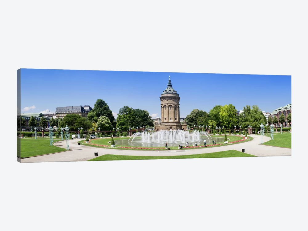 Water tower in a park, Wasserturm, Mannheim, Baden-Wurttemberg, Germany by Panoramic Images 1-piece Canvas Art