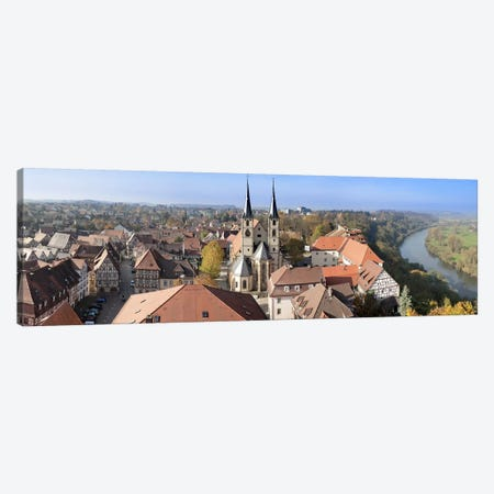 Old town viewed from Blue Tower, Bad Wimpfen, Baden-Wurttemberg, Germany Canvas Print #PIM10439} by Panoramic Images Canvas Print