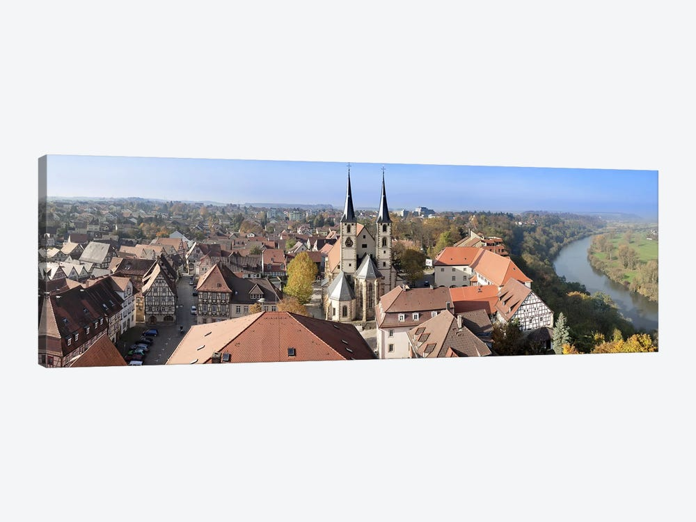 Old town viewed from Blue Tower, Bad Wimpfen, Baden-Wurttemberg, Germany by Panoramic Images 1-piece Art Print